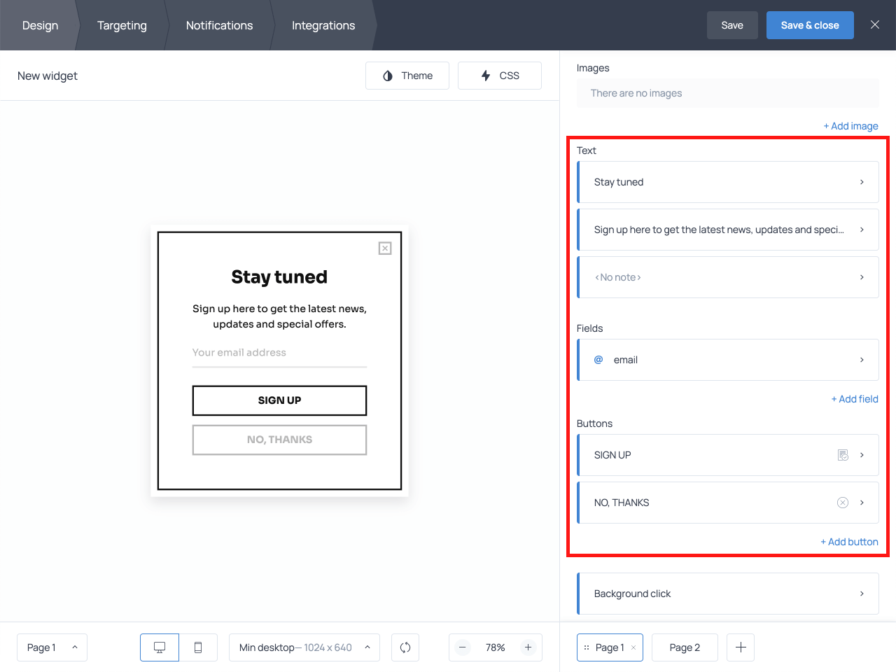 How to edit the text on the email opt-in popup in Getsitecontrol