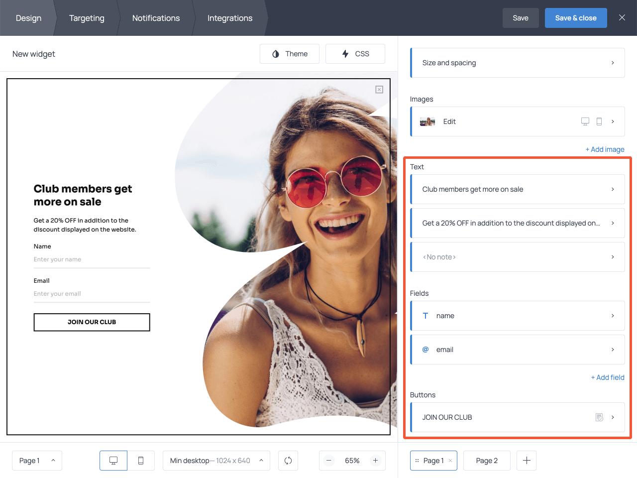 How to create a website overlay in Getsitecontrol