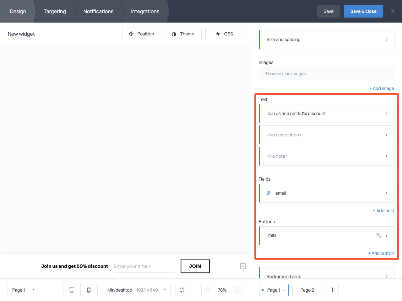 How to create a sticky bar with an email capture form using Getsitecontrol