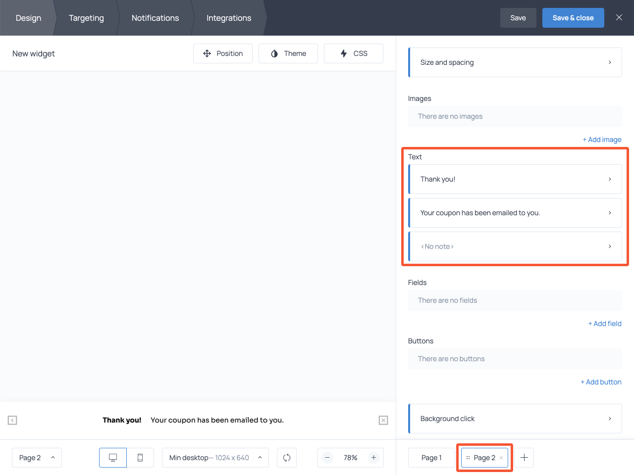 How to add a submission success message to an email capture form