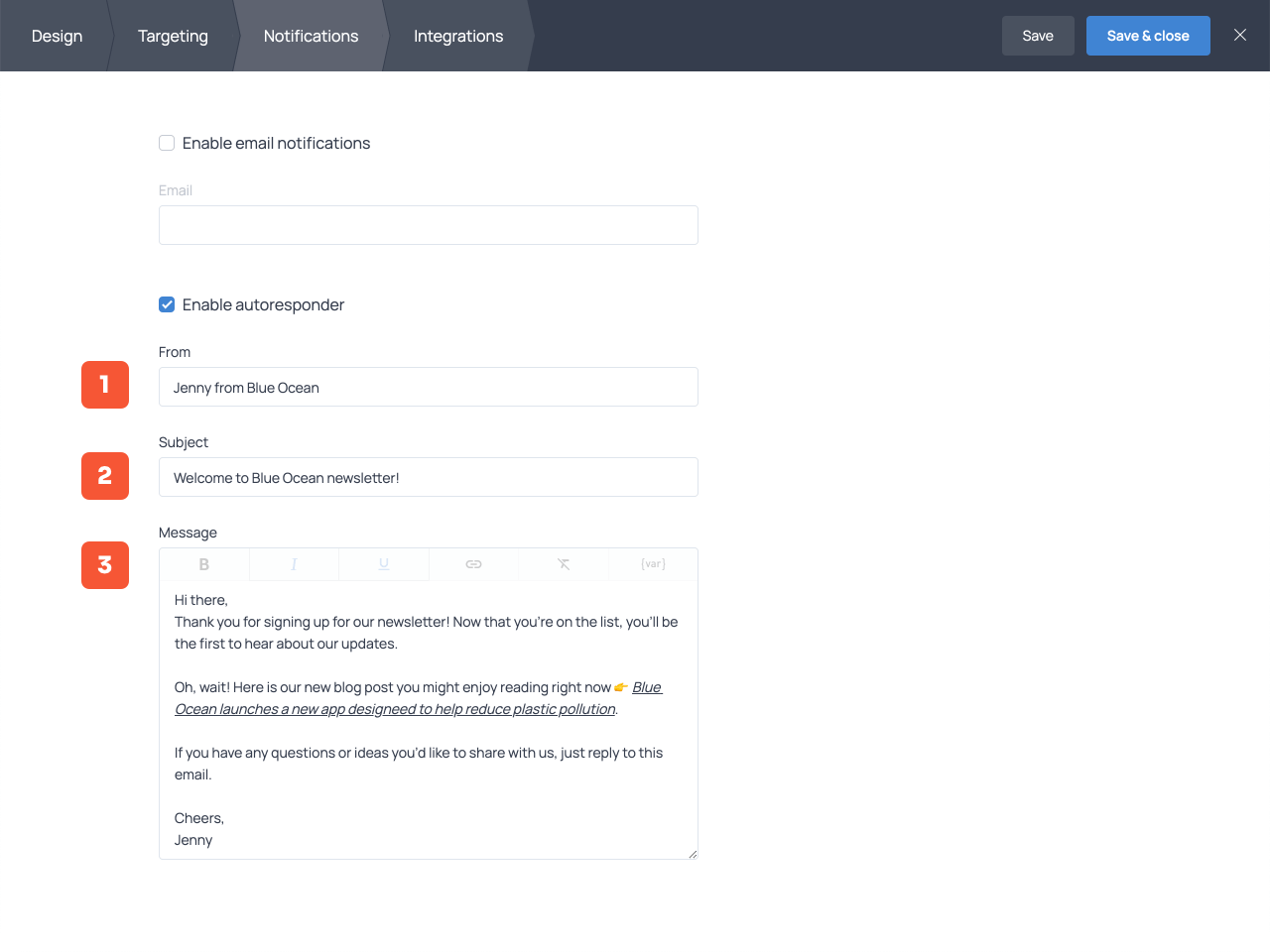 How to set up an autoresponder for an email signup form