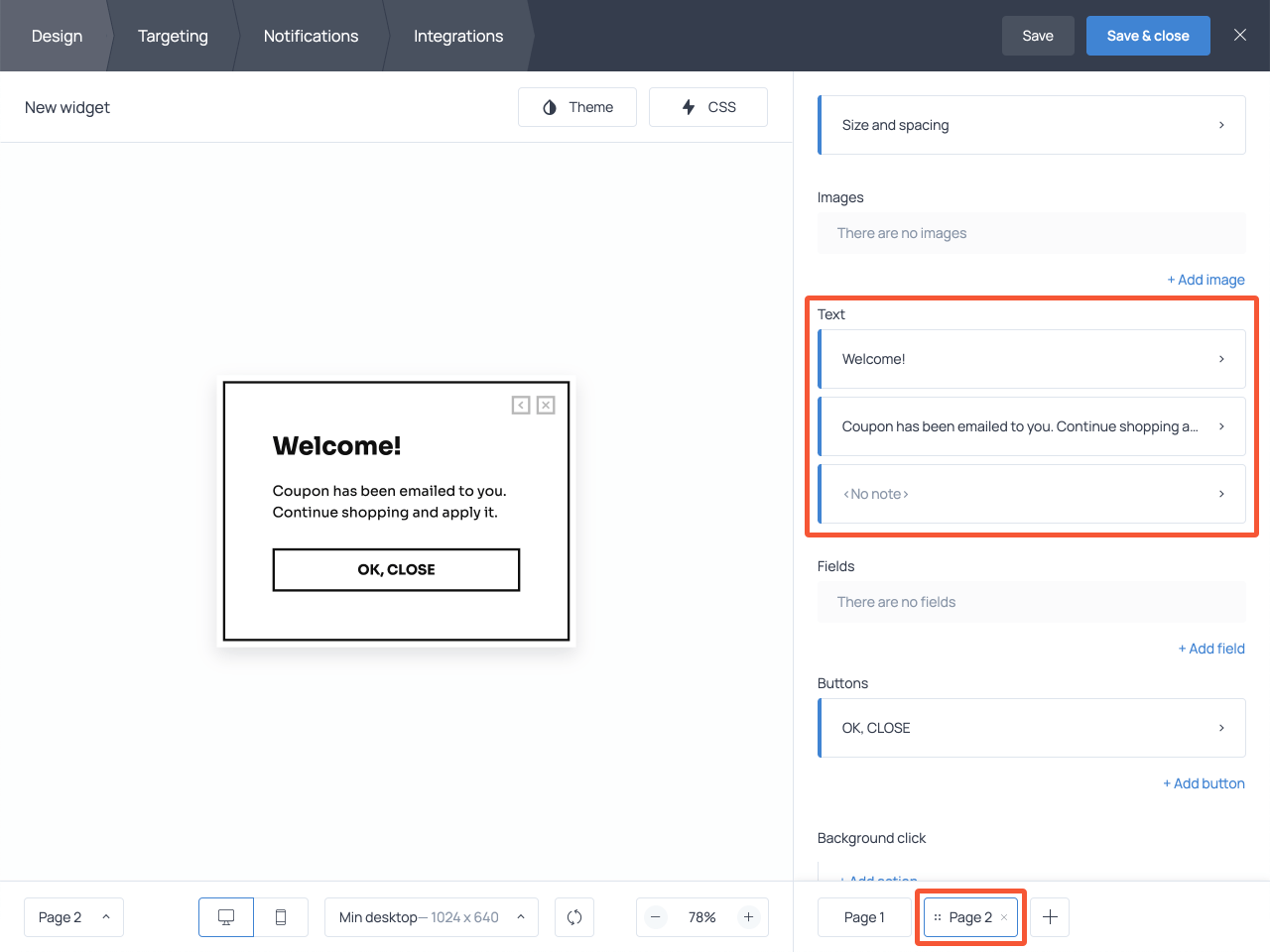 Submission success page for an email signup form