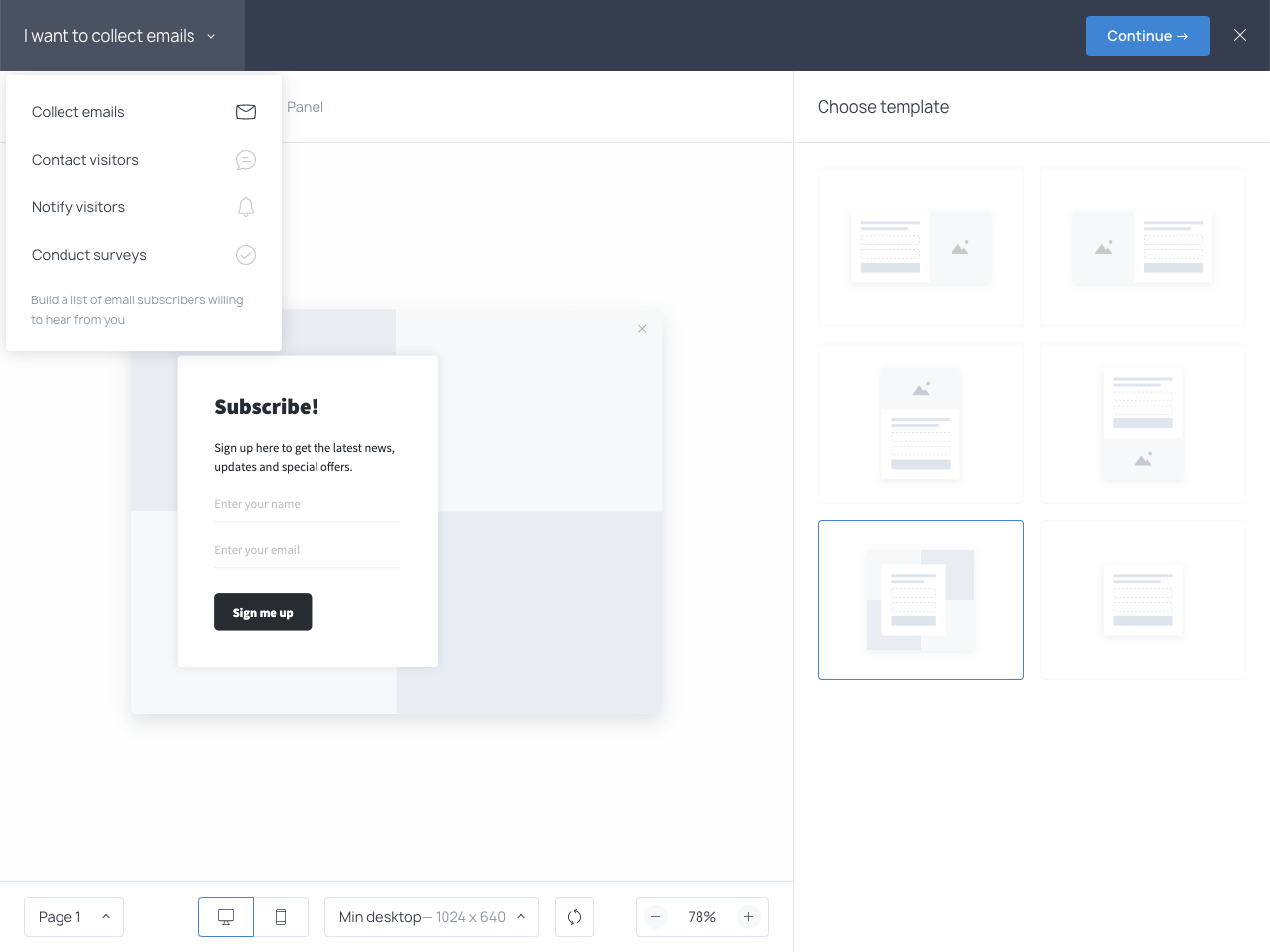 Create a coming soon page with an email form that converts