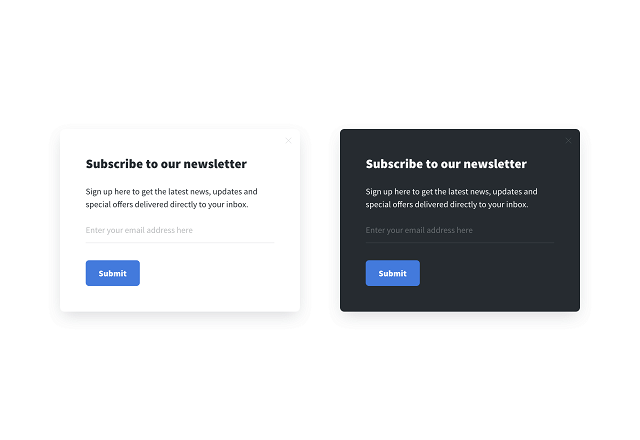 A/B testing popups with different color schemes
