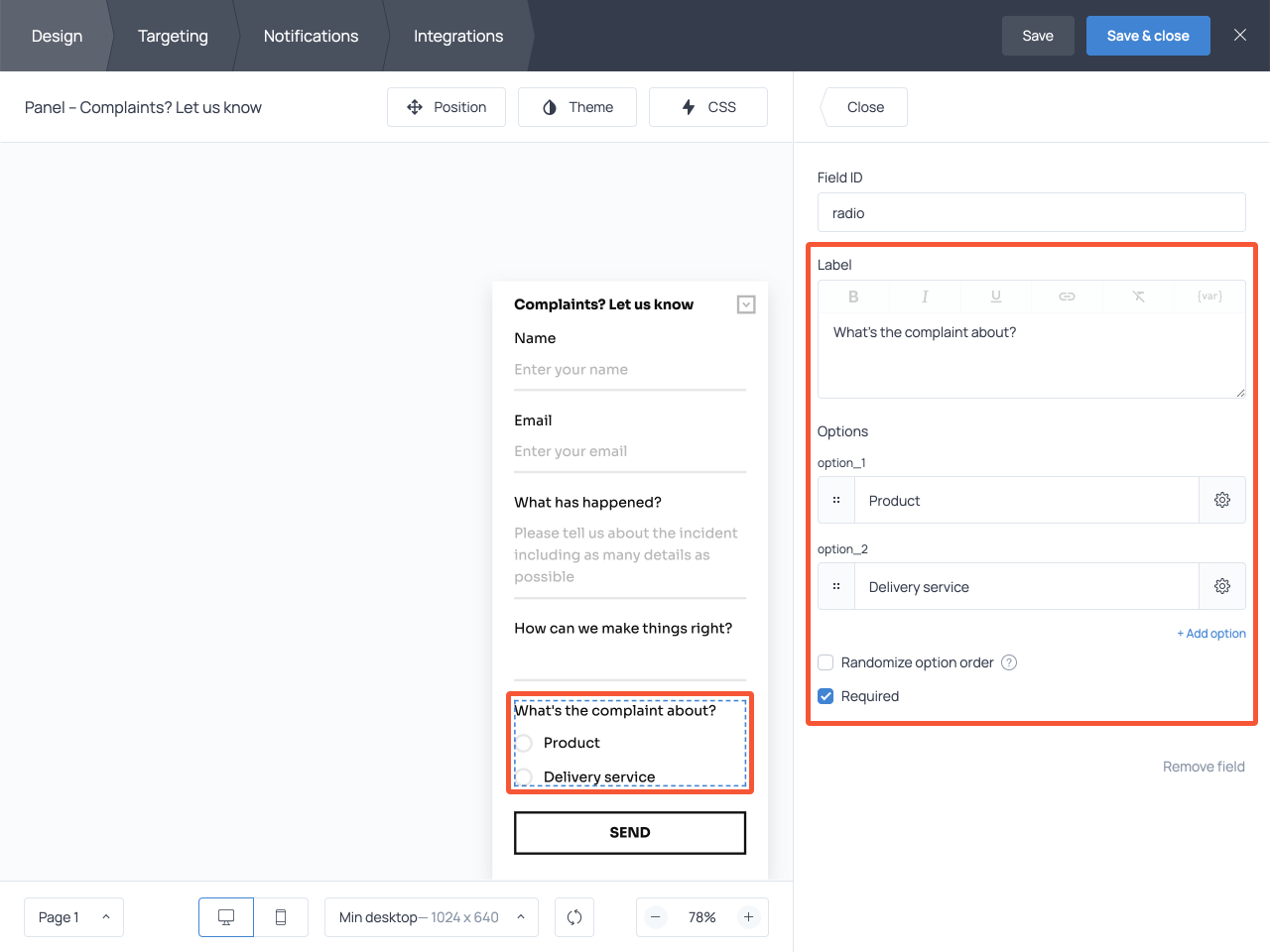 How to add custom fields to a complaint form