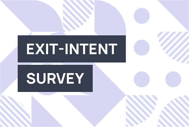 Create a website exit survey to optimize conversion rates