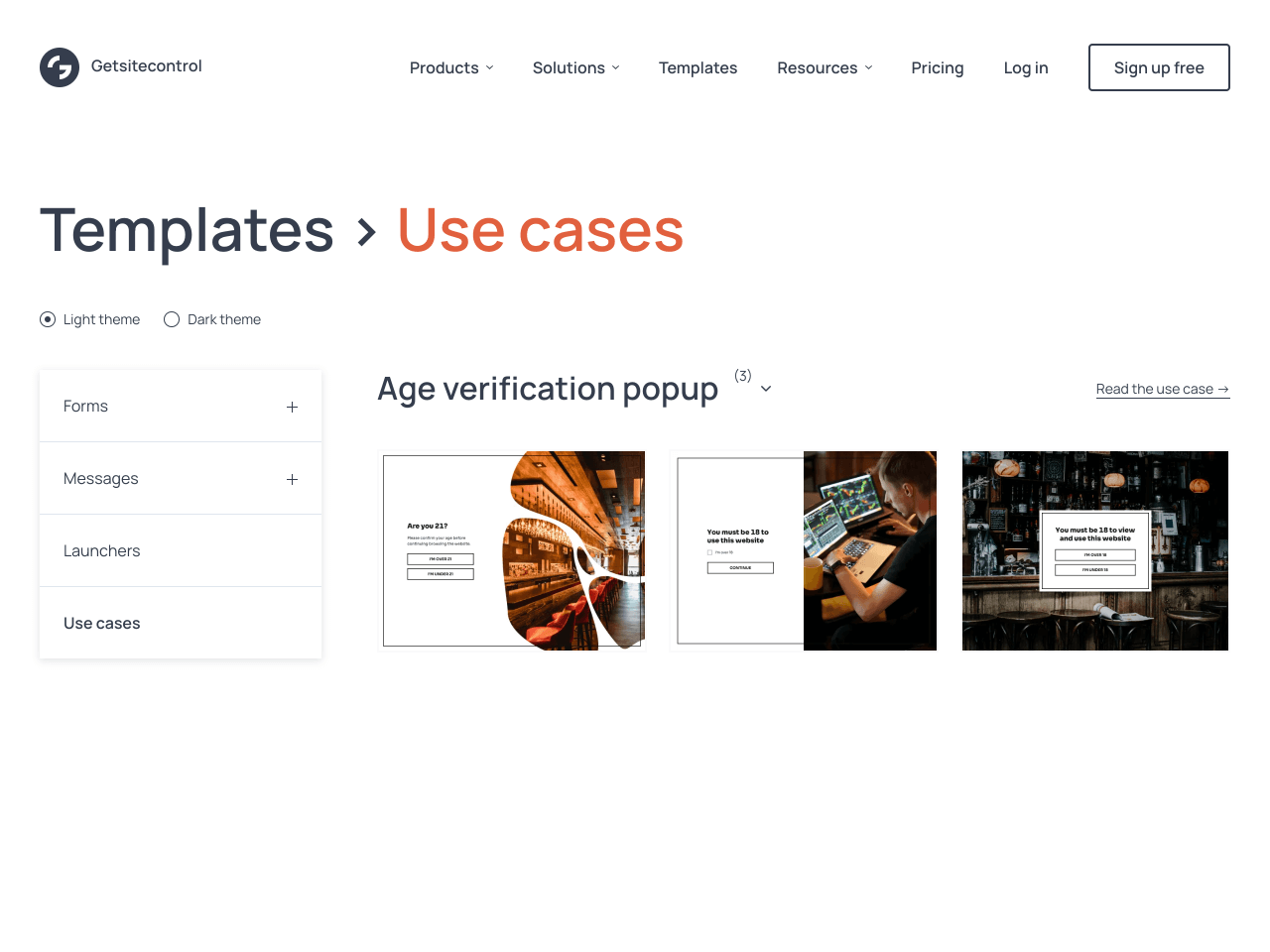 Age verification popup gallery for Shopify stores