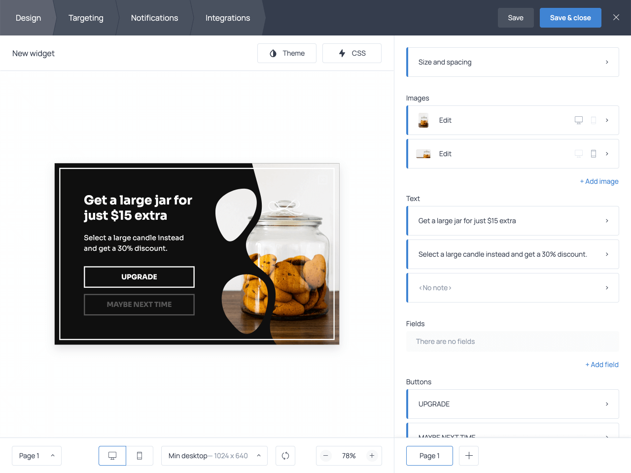 How to create an upsell popup for Shopify in Getsitecontrol
