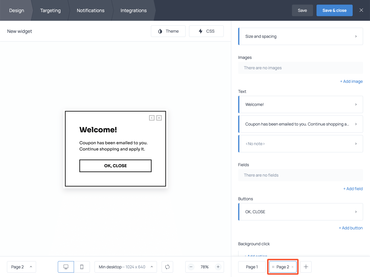 Customize email signup submission success page in Getsitecontrol