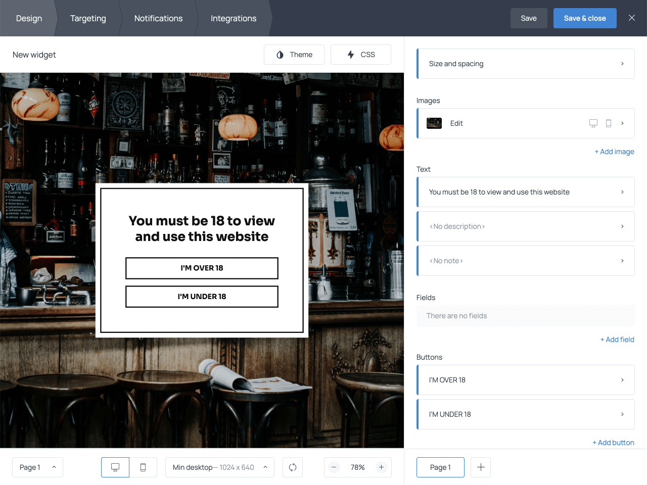 How to add an age verification popup to your website with Getsitecontrol