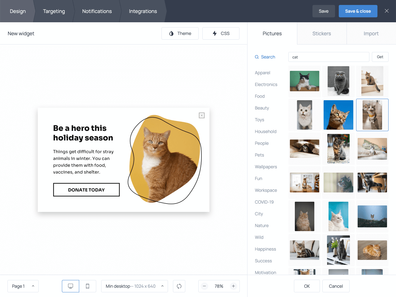 How to change an image on your donation popup in Getsitecontroll