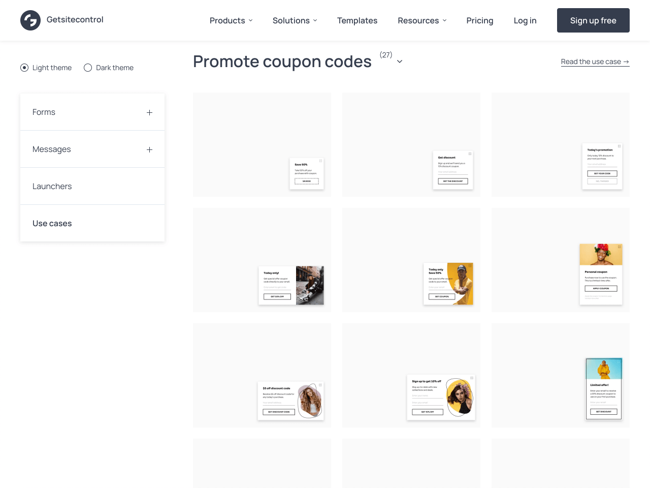 Templates designed to help ecommerce owners promote discounts