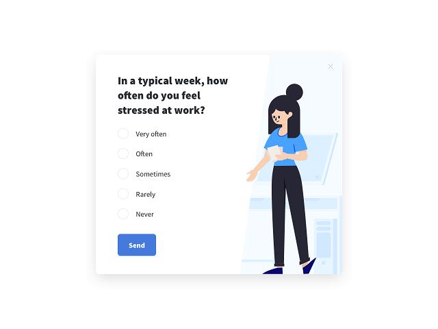 Employee satisfaction survey measuring the stress level