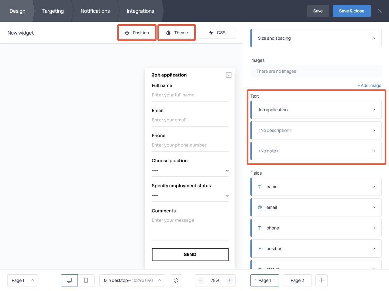 How to create a job application form for a website using Getsitecontrol