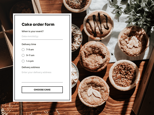 Online order form you can link to from your Instagram Bio