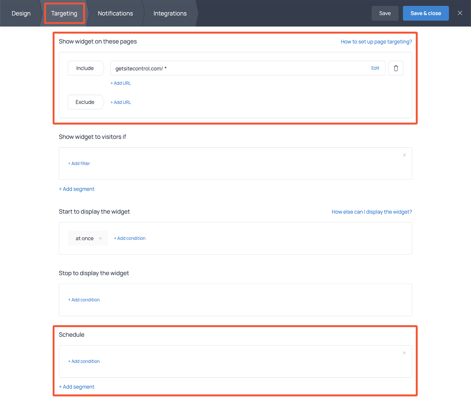 How to display service request form on selected pages